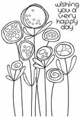 Woodware - Circle Flowers - Clear Magic Stamp Set - JGS492